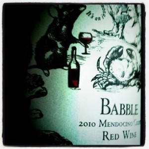2010 Babble Mendocino County Red Blend
