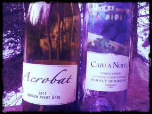 2010 Caiu a Noite and 2011 Acrobat Oregon Pinot Gris