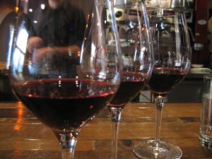 A red flight at Crush Wine Bar in Anchorage in 2009