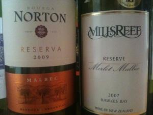 2009 Norton Reserva and 2007 Mills Reef Reserve