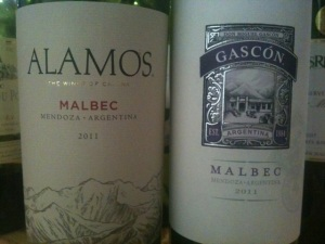 2011 Catena Alamos and 2011 Gascón Malbec