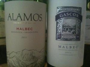 2011 Catena Alamos and 2011 Gascón Malbec