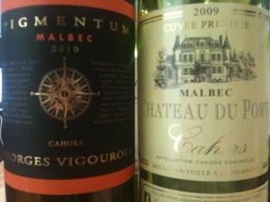2010 Vigouroux Pigmentum and 2009 Chateau de Port Cuvée Prestige