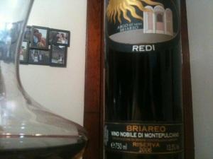 2006 Vecchia Cantina Vino Nobile Redi Argo et Non Briareo Riserva