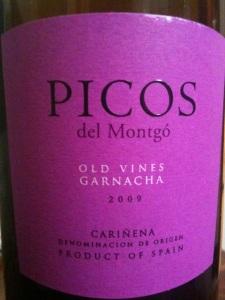 2009 Picos del Montgó Old Vines Garnacha