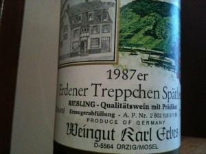 1987 Karl Erbes Erdener Treppchen Riesling Spätlese