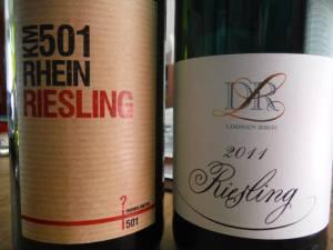 Rheingau and Mosel: 2011 KM501 Rhein Riesling and Loosen Bros Dr L Riesling
