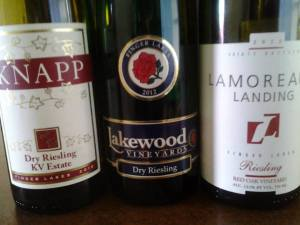 Finger Lakes Riesling Launch 2012 - The dry wines