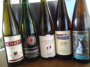 Finger Lakes Riesling Launch 2012 - The line up.