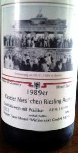1989 SMW Kaseler Nies'chen Auslese