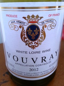 A nice Vouvray at a bargain price