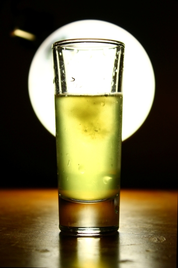 Limoncello, backlit