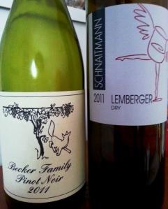 Becker Pinot Noir and Schnaitmann Lemberger