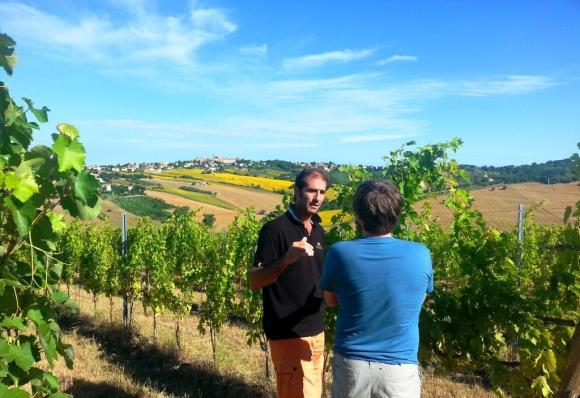 With Massimo at Tenuta San Marcello, Le Marche