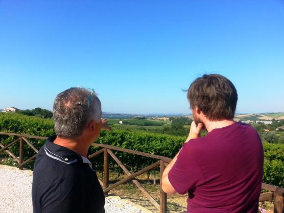 With Maurizio of Vignamato, Le Marche