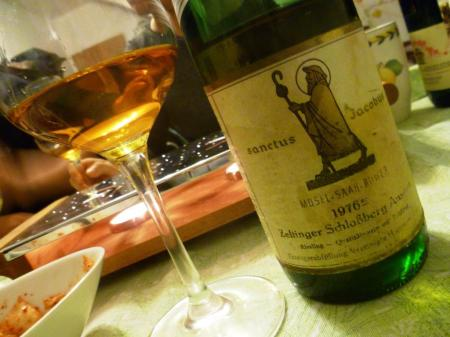 One of the many amazing wines we drink at our feasts